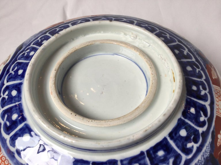 Late 19th Century Antique Meiji Period Imari Porcelain Bowl For Sale