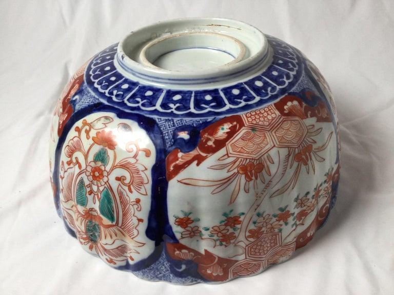 Antique Meiji Period Imari Porcelain Bowl For Sale 2