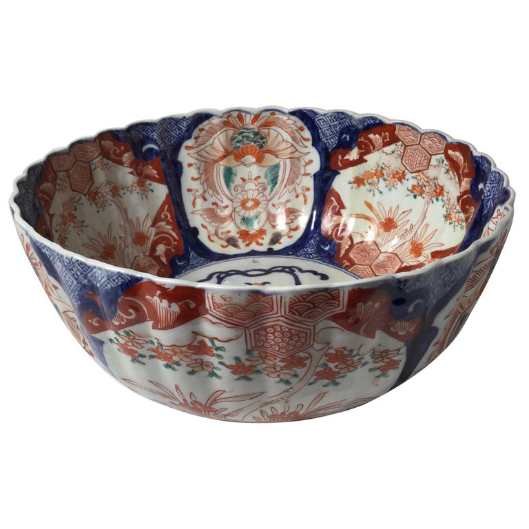 Antique Meiji Period Imari Porcelain Bowl For Sale