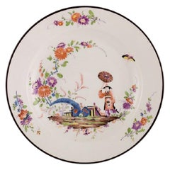Antique Meissen Bowl in Hand Painted Porcelain in Japanese Style, 19th Century