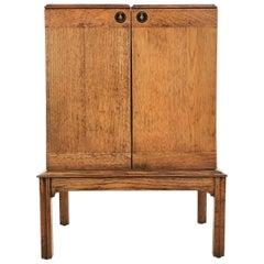 Antique Mellophone Oak Record Cabinet