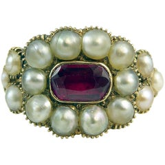 Antique Memorial Ring, 15 Carat, circa 1860s