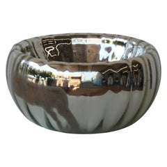 Antique Mercury Glass Mirrored Bowl, France, 1940s