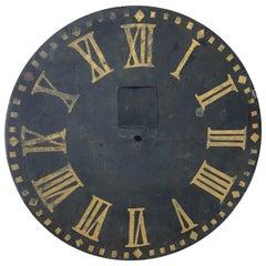 Antique Metal Clock Face