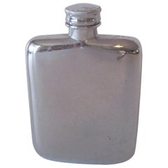Antique Metal Mini Flask from Britain
