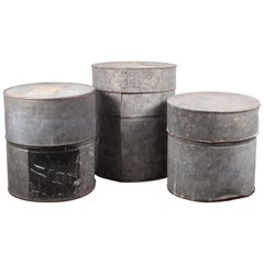 Antique Metal Movie Reel Canisters, circa 1930