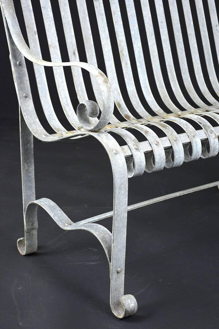 Antique Metal Outdoor Patio Bench At 1stdibs