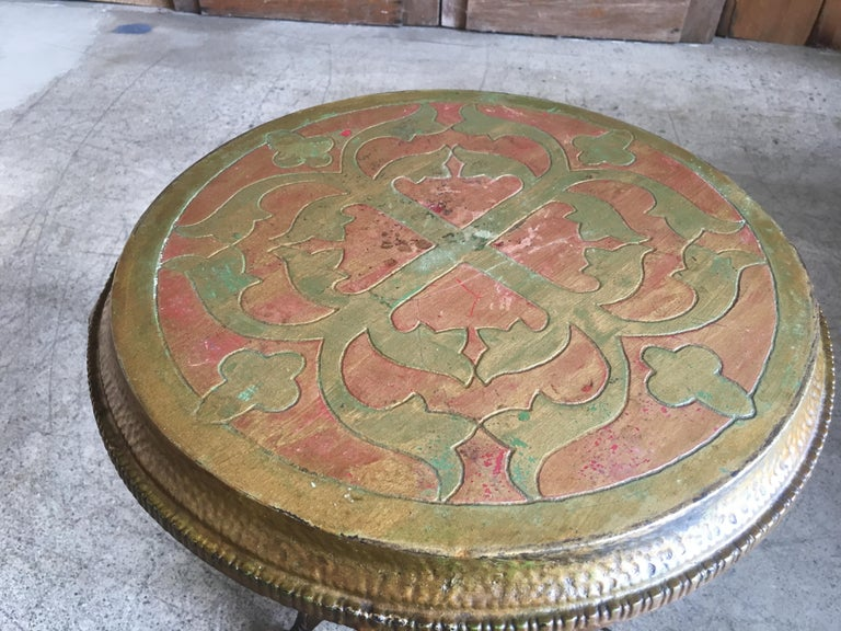 Antique Metal Side Table For Sale 4