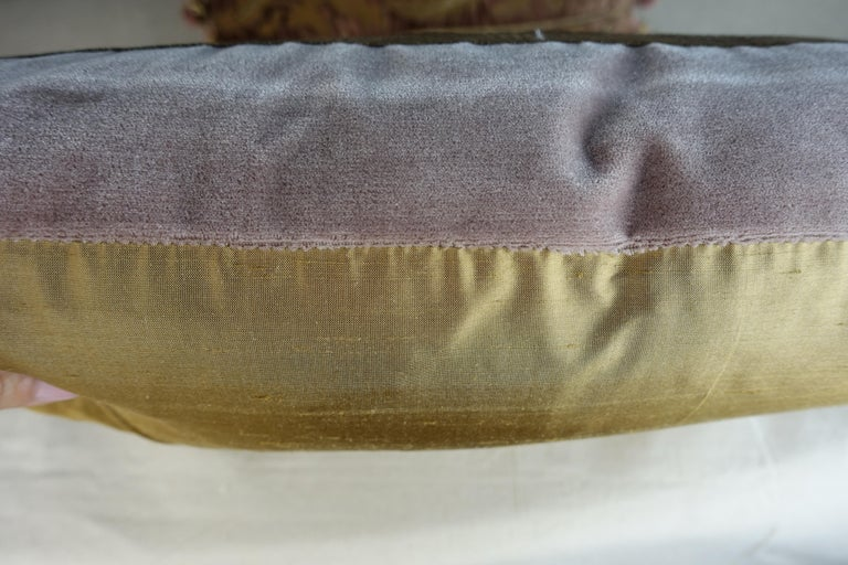 Antique Metallic Embroidered Textile Pillows, Pair In Excellent Condition For Sale In Los Angeles, CA