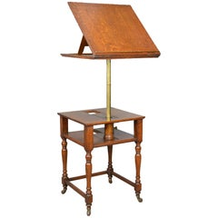 Antique, Metamorphic, Side Table, Lectern, Oak, Library, Reading, circa 1860