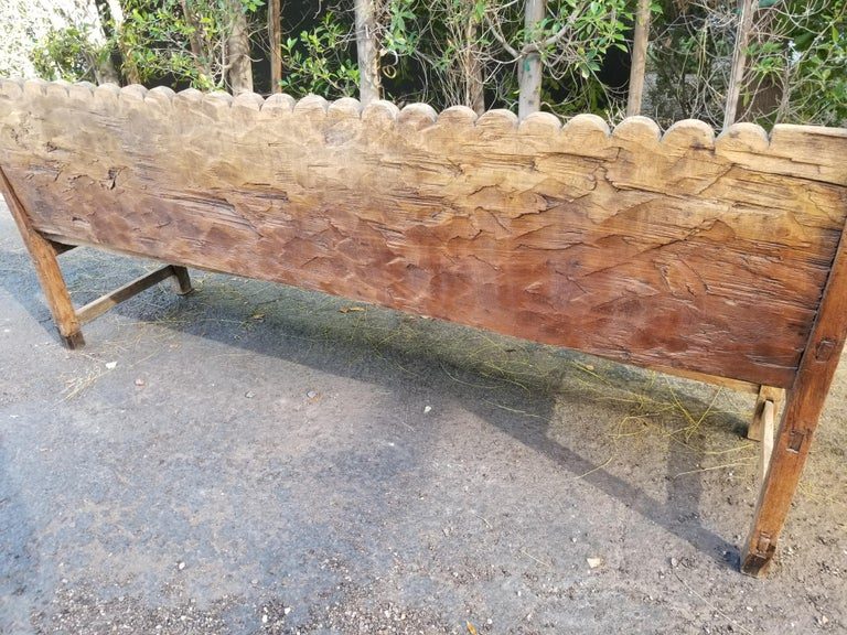 Antique Mexican Bench In Distressed Condition In Scottsdale, AZ