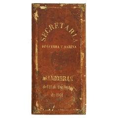 Antique Mexican Photo Album of Secretaria De Maniobras Y Guerra from Porfiriato