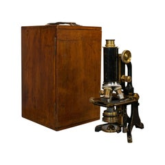 Antique Microscope, English, Brass, Scientific Instrument, Charles Baker, London