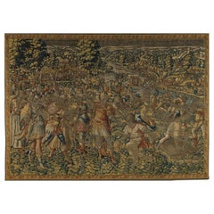 Antique Mid-16th Century Historical Flemish Renaissance Tapestry