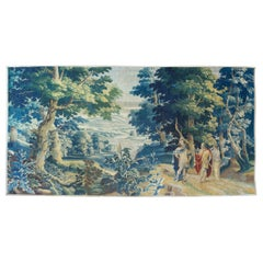 Antique Late 17th Century Flemish Verdure Landscape Tapestry