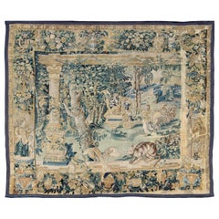 Antique Mid-18th Century European French Beauvais Tapestry