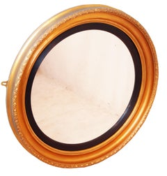 Antique Mid-19th Century Circular Gilt Mirror