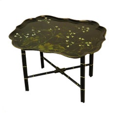 Antique Mid 19th Century Papier Mache Tray Coffee Table