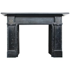 Antique Mid-Victorian Black Fossil Marble in the Aesthetic Manner