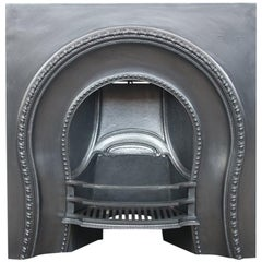 Antique Mid-Victorian Cast Iron Arched Fireplace Insert