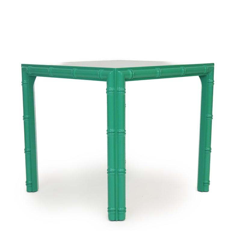 Mid-Century Modern Antique Midcentury Faux Bamboo Side Table For Sale