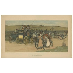 Antique Military Print of a Troop Manoeuvre by C.E. Clifford, 1901
