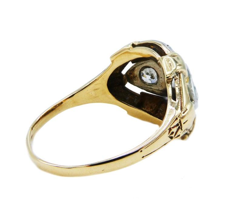 Edwardian Antique Mine Cut Three-Stone Diamond Ring For Sale