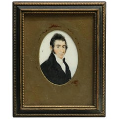 Miniature British Portrait Painting of Statesman, John Caldwell, 18th Century