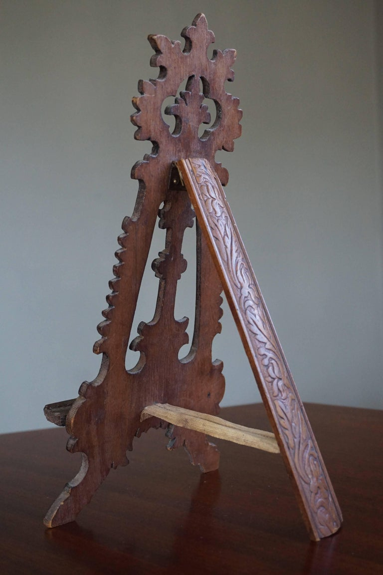 Antique Miniature Floor Easel or Artist Display Stand as a Table ...