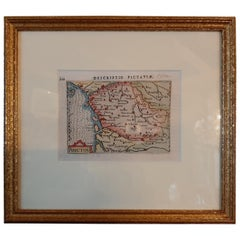 Antique Miniature Map of the region of Poitou 'France' by Bertius, circa 1600