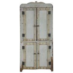 Antique Miniature Salesman Sample Doll House Country Wardrobe Cabinet Cupboard