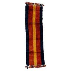 Antique Minimalist Uzbek Julkhyr Rug with Vertical Monochrome Stripes
