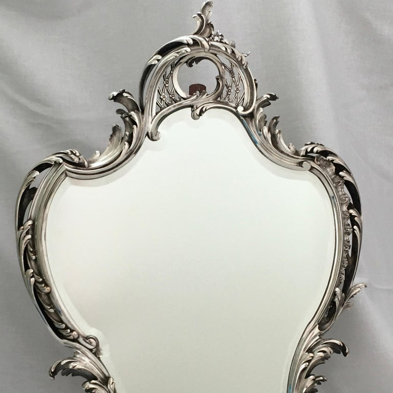 Antique Mirror, A. Aucoc, Paris, Rococo, 1900, documented In Good Condition For Sale In EL Waalre, NL