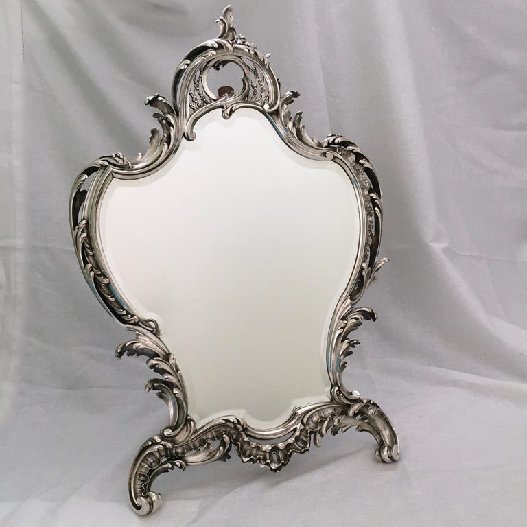 Antique Mirror, A. Aucoc, Paris, Rococo, 1900, documented For Sale 2