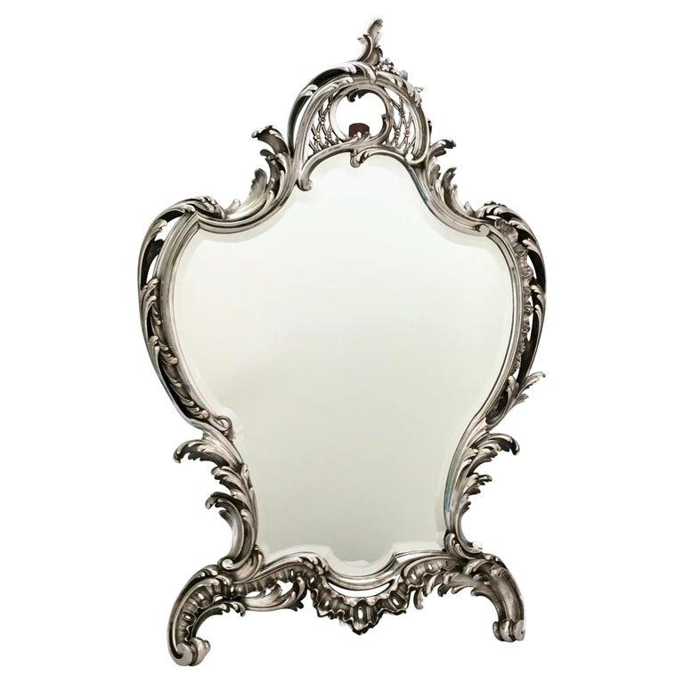 Antique Mirror, A. Aucoc, Paris, Rococo, 1900, documented For Sale