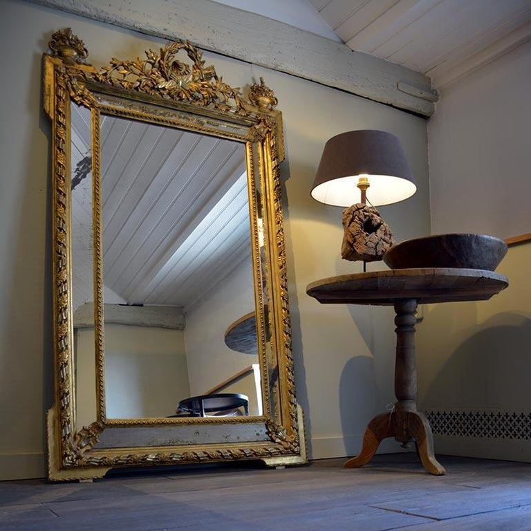 Beautiful antique mirror from the 19th century. Original from France.