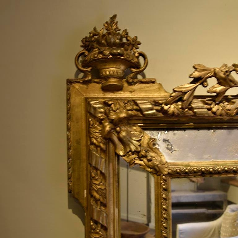 Antique Mirror from the 19th Century In Fair Condition For Sale In Udenhout, NL