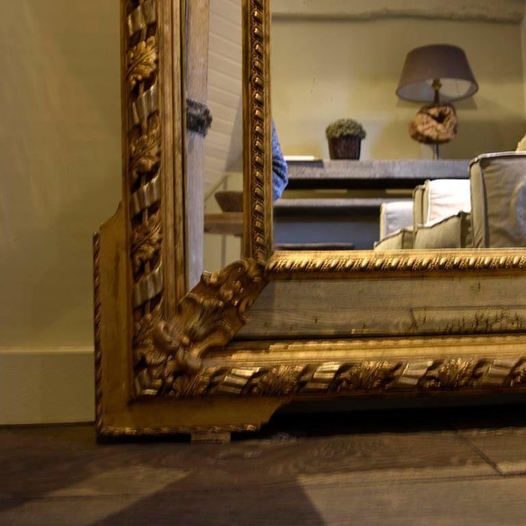 Mid-19th Century Antique Mirror from the 19th Century For Sale