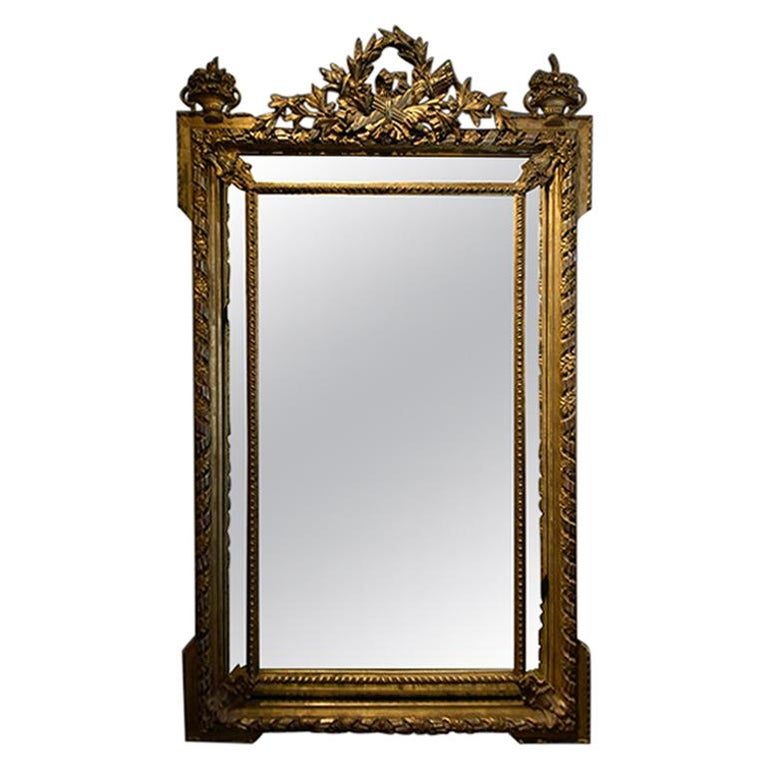 Antique Mirror from the 19th Century For Sale