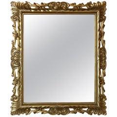 Antique Mirror, Italian Giltwood in Rococo Style
