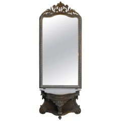 Antique Mirror with Table