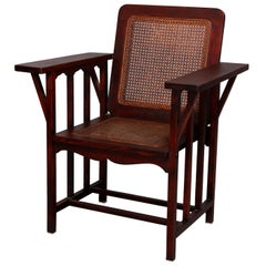 Antique Mission Arts & Crafts Phoenix Co. Mahogany & Pressed Cane McKinley Chair