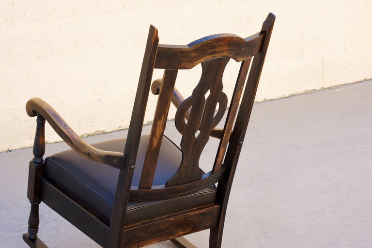 Antique Mission Style Rocking Chair Refinished Maple And