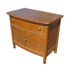 Antique Mission Style Tiger Oak Sideboard Dresser