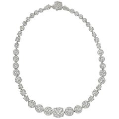 Antique Mixed-Cut Diamond Rivière Necklace, circa 1905