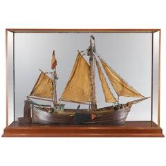 Antique Model of a Thames River Barge