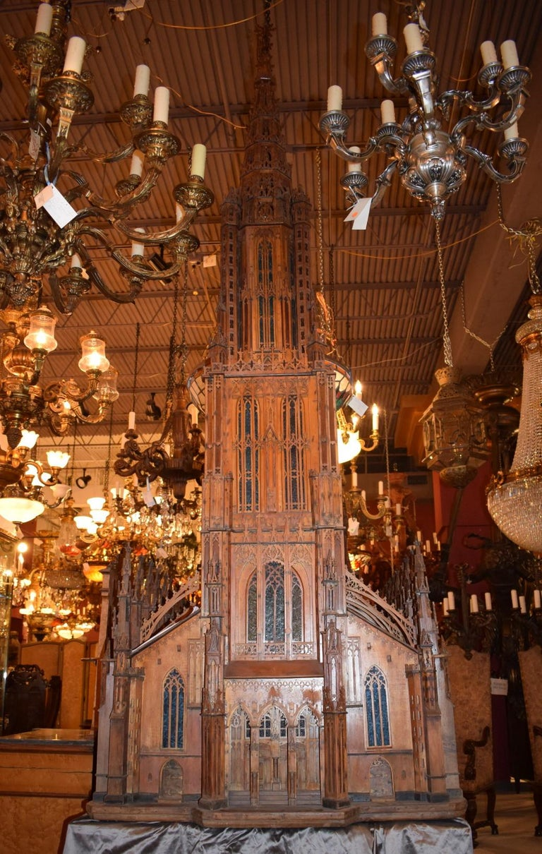 Antique Model of Ulm Cathedral For Sale 5