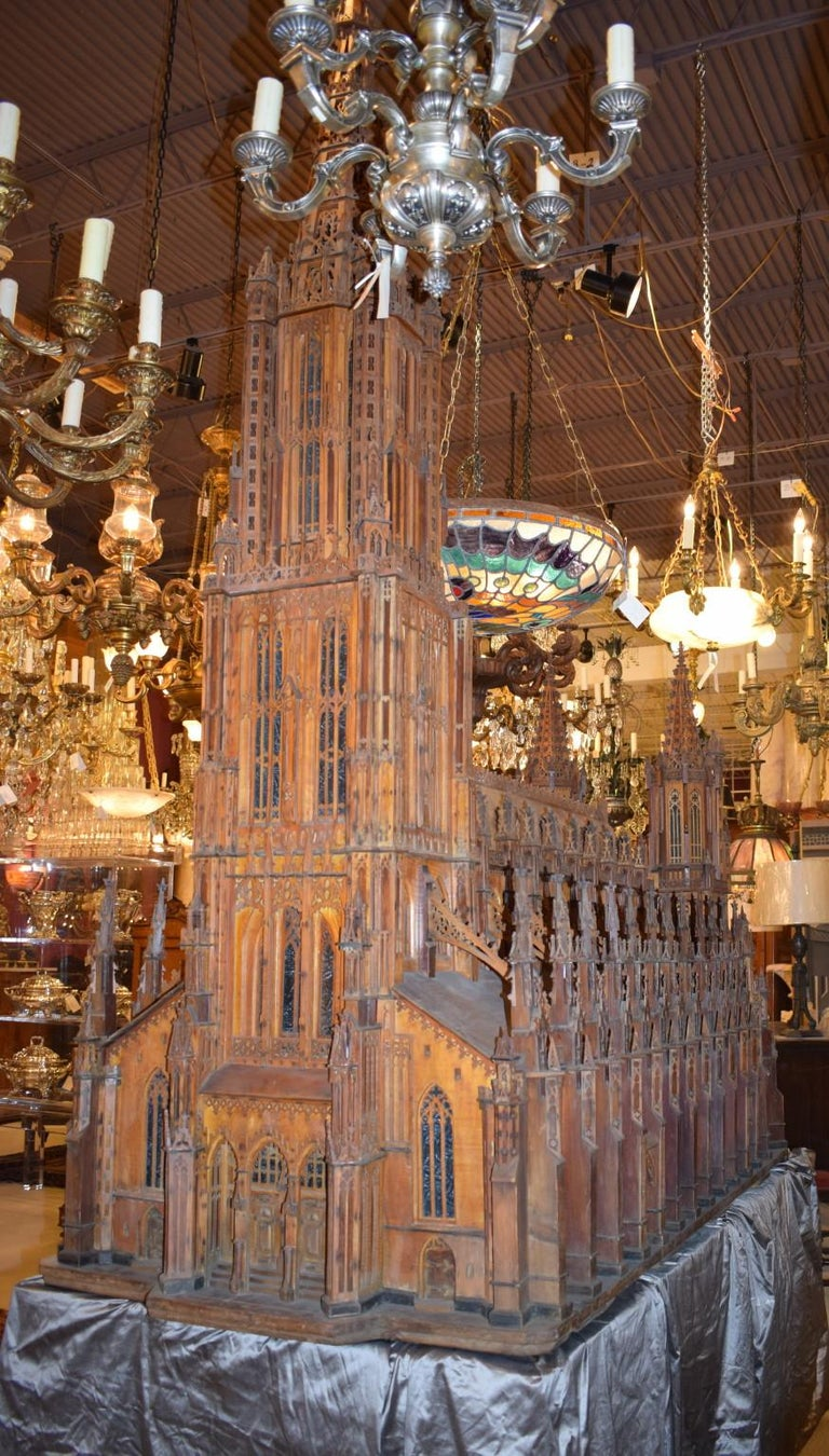 Gothic Antique Model of Ulm Cathedral For Sale
