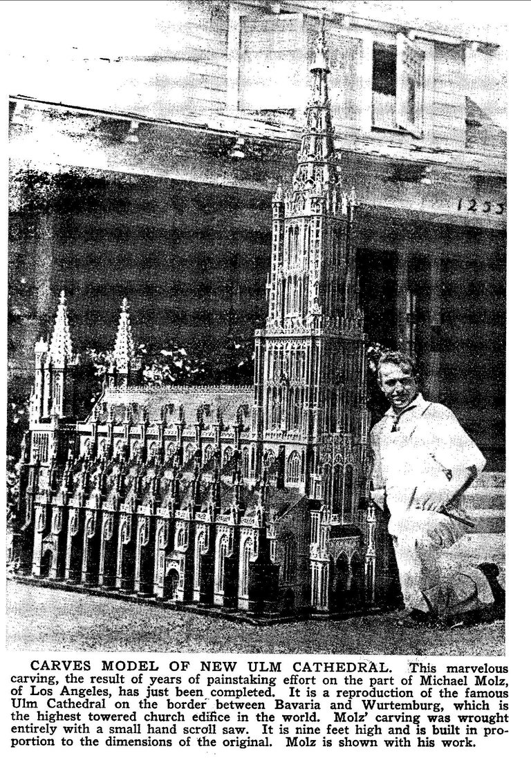 Antique Model of Ulm Cathedral In Excellent Condition For Sale In Atlanta, GA