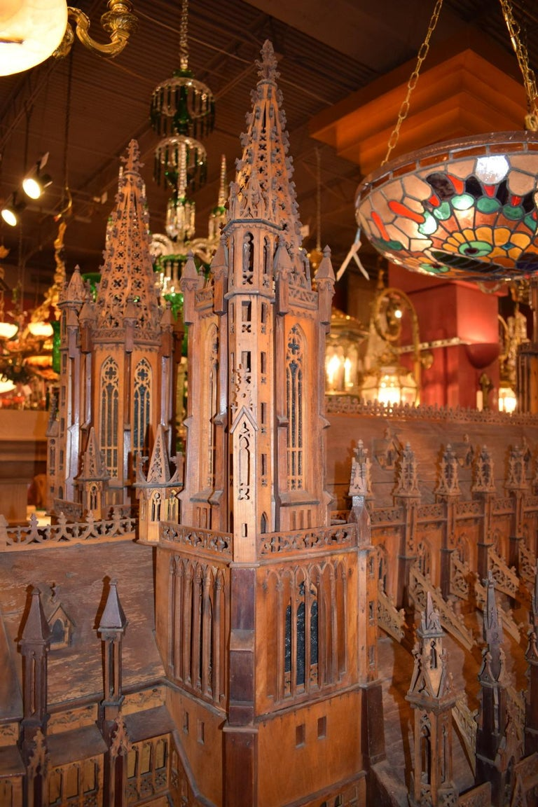 20th Century Antique Model of Ulm Cathedral For Sale
